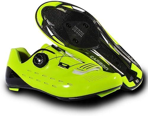 GUOSANSAN Calzado de Ciclismo para Hombre Calzado Antideslizante de Carretera Hausschuhe Deportivas para Ciclismo