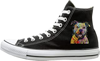 Beware Of Pit Bulls Men & Women Canvas Shoes Classics Lace Ups High Top Canvas Sneakers