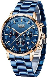 LIGE Watch Men Fashion Sport Quartz Clock Mens Watches Brand Luxury Full Steel Business Waterproof Watch