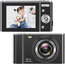 TOBERTO HD Digital Camera, 1080P Vlogging LCD Mini Camera with 16X Zoom 36MP Digital Point and Shoot Camera Video Camera, ...