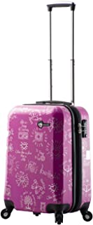"Mia Toro M1089-20in-pur Love This Life - Medallions Hardside Spinner Luggage 20"" Carry-on, Purple (Purple) - M1089-20IN-PUR"
