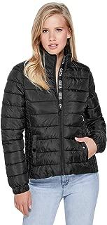 Women's Aden Logo Packable Mock Neck Zip Up Puffer Jacket