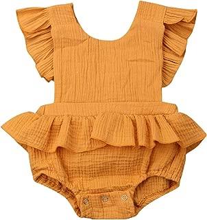 dextrad bodysuits 4 Color New Brand Newborn Baby Girls Ruffle Bodysuit Jumpsuit Sunsuit One-Pieces Outfits