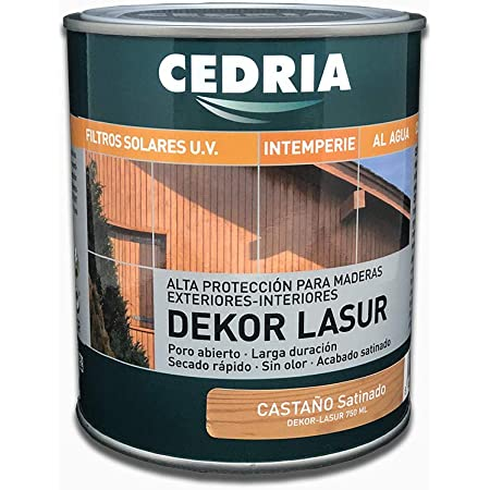 Lasur protector madera exterior al agua Cedria Dekor Lasur 20 ...