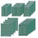 MMOBIEL PCB Breadboard 40 piezas, Prototipo de placa de circuito impreso de doble cara Conjunto de kit universal compatible con los kits Arduino y proyectos de bricolaje electrónico