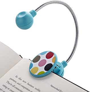 WITHit French Bull Clip On Book Light – Maya – LED Reading Light for Books and eBooks, Reduced Glare, Portable and Lightweight, Cute Bookmark Light for Kids and Adults, Batteries Included