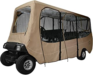 Deluxe Universal Golf Cart Enclosure for 6 Passenger Carts
