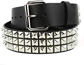 New Adult Boys Girl Jean Gothic Design Pyramid Studded Polyurethane Leather Belt