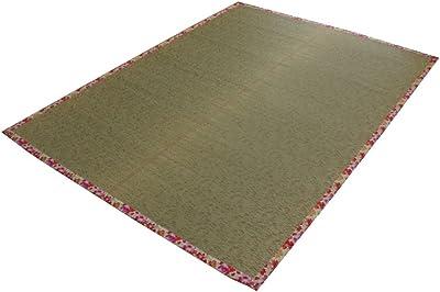 イケヒコ い草ラグ ラグ カーペット 2畳 かわいい 花柄 『NSフレグランス』 ローズ 約191×191cm (裏面:滑りにくい加工)