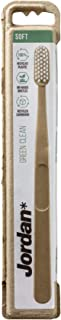 Jordan Green Clean, Eco Friendly Toothbrush Made From Recycled Plastic, BPA-free, Soft Bristles, 1 unit