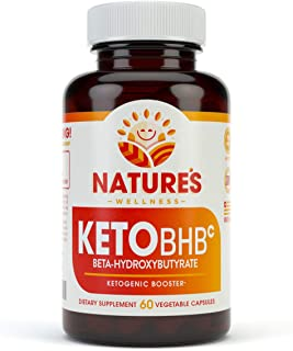 Keto BHB Weight Loss Enhancer | Support Ketosis, Boost Performance and Suppress Cravings | Non GMO Exogenous Ketones Supplement |  Keto Fat Burner Pills | 60 ct of Keto BHB 800