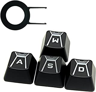 HUYUN FPS Backlit Key Caps For Logitech G910 keyboard cherry MX Key switch(W A S D Keys)