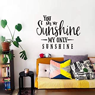 Black Panther Stickers for Wall You are My Sunshine My Only Sunshine for Living Room Nursery Kids Room Baby Room Couple Room