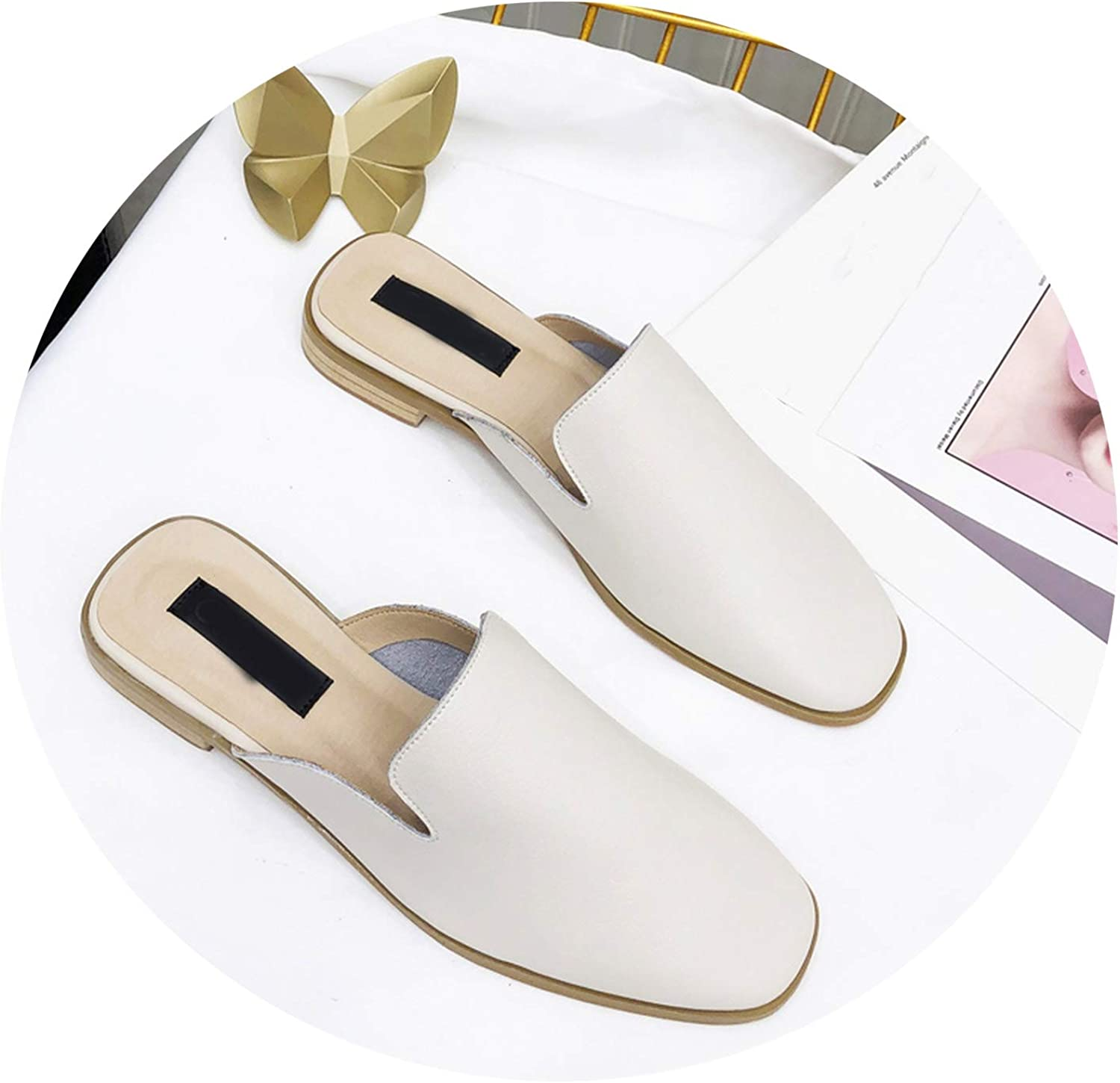 Genuine Leather shoes Women Slippers shoes Brand Slippers Ladies Slides shoes Fashion