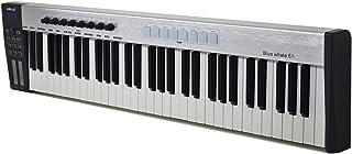 لوحة مفاتيح تحكم MIDI المحمولة باليو إس بي 61 على شكل حوت أزرق من WORLDE 61 مفتاحاً شبه مرجحاً 8 منصات زناد بإضاءة خلفية R...