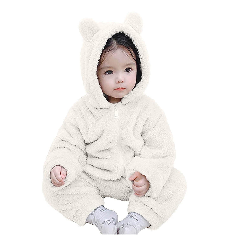 Baltimore Mall Unisex Baby Bear Hooded Jumpsuit Sl Fleece Cotton Kansas City Mall Long Playsuits