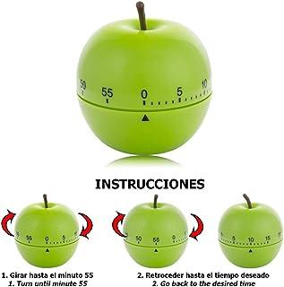 ORYX 5185000 Temporizador Minutero Cocina Manzana Verde 60 Minutos