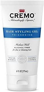 Cremo Hair Styling Gel, Thickening, 6 oz