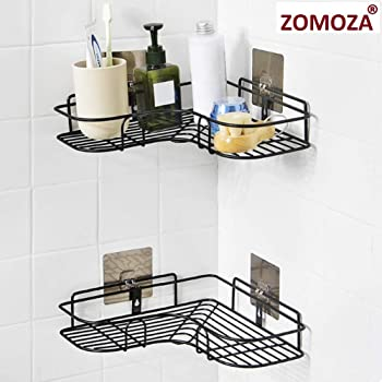 Zomoza Bathroom Shelf/Shelves Corner Shelf Bathroom Wrought Iron Storage Rack Kitchen Tripod Bathroom Corner Rack Storage Shelves & Racks