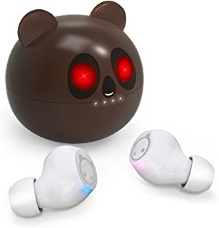 $42 » Sponsored Ad - Wireless Earbuds,Mini Bluetooth Earbuds Tiny Cute Brown Bear USB-C Charging Case, Waterproof Stereo TWS Wir...