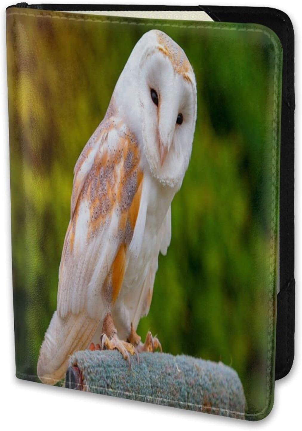 Outlet SALE Leather Travel Passport Barn Owl Holder Case Under blast sales E Card Wallet Cover