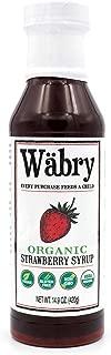 Wäbry Organic Syrup 14.9 oz (Strawberry)