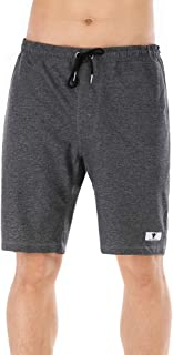 Men's Jogger Gym Shorts with Three Pockets Casual Classic Lightweight Soft Cotton Elastic Active Bodybuilding Workout Shorts
