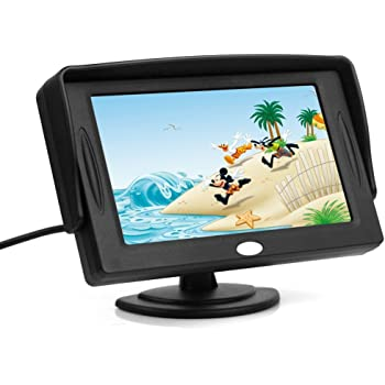 "BW 4.3"" TFT LCD Color Monitor 16: 9 for Car Reversing Parking Rearview Camera GPS"