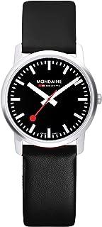 Mondaine - Simply Elegant - Reloj de Cuero Negro para Hombre y Mujer, A638.30350.14SBB, 41 MM