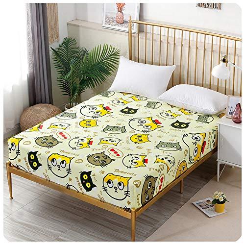 CYYyang Protector de colchón de Rizo algodón y Transpirable Sábana de Dibujos Animados de una Pieza Todo incluido-26_100 * 200 + 15