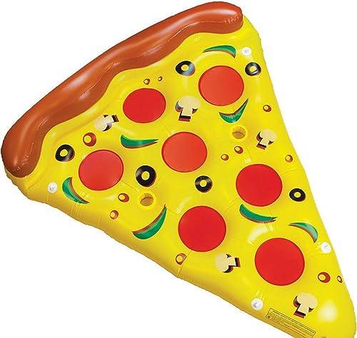Mexff Aufblasbare Jumbo Pizza Floating Row Liege Air Float Swimmingpool Float-Riesige Aufblasbare Strand Spielzeug 180  150 cm