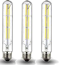 Klarlight Edison T10 Vintage Filament Bulb 6 Watt Dimmable E26 LED Tube Light Bulbs 60W Incandescent T10 Replacement Light for Home Decorative Showcase Bedside Lamp Lighting (3-Pack)