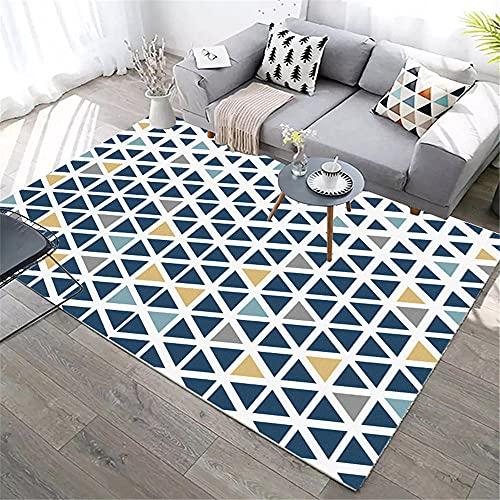 kids rug Blue Living room carpet blue triangle simple design soft carpet anti-mita carpet anti slip 50x80cm rug carpets for room 1ft 7.7''X2ft 7.5''