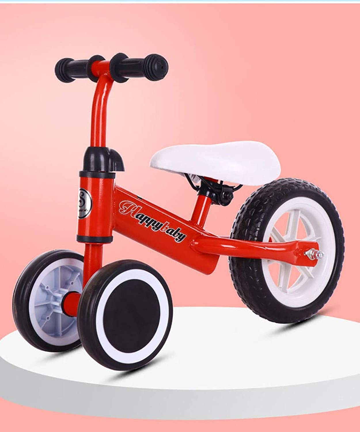 Baby Balance Bike No Pedal Baby Car Ride on Toy for 13 Years Adjustable Handlebar And Seat Durable EVA Foam Wheel Safety Toddler Tricycle Infant First Birthday Gift