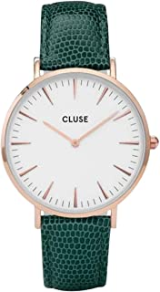 CLUSE Womens Analogue Classic Quartz Connected Wrist Watch with Leather Strap CL18038
