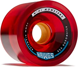 Hawgs Mini Monsters Longboard Wheels - 70mm - 82a - Red