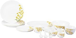 طقم اطباق المائدة من لاوبالا 44 قطعة لون اصفر عاجي