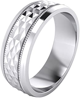 (5 Styles) Heavy Solid Sterling Silver Wedding Band...