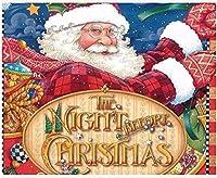 NC68 Diy5Dダイヤモンドペインティングキットフルドリルサンタクロース刺繡クリスマス冬ステッカードット画像フラワーモザイク家の装飾12x16インチ(フレームレス)