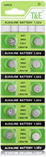 YCDC 10PCS AG7 LR927 395A SP395 SR57 Button Cell Coin Alkaline Battery 1.55V for Watches
