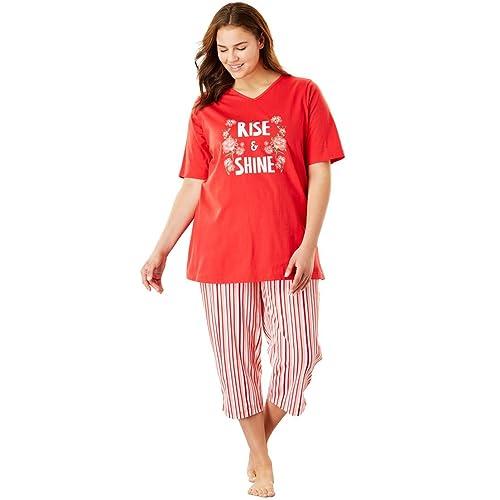 adb838893aa86 Dreams   Co. Women s Plus Size 2-Piece Capri Pj Set