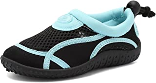 CIOR Toddler Water Shoes Aqua Shoe Swimming Pool Beach Sports Quick Drying Athletic Shoes for Girls and Boys U119STHSX,Classic.Black,32