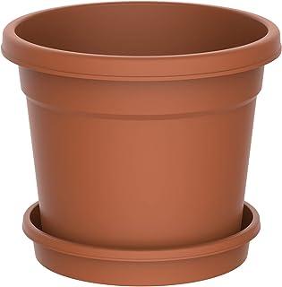 Cosmoplast 10 Inch Round Flower Pot for Plants - Terracotta