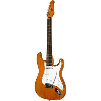 Oscar Schmidt 6 String Double Cutaway SSS Electric Guitar. Natural, Right, (OS-300-NH-A)