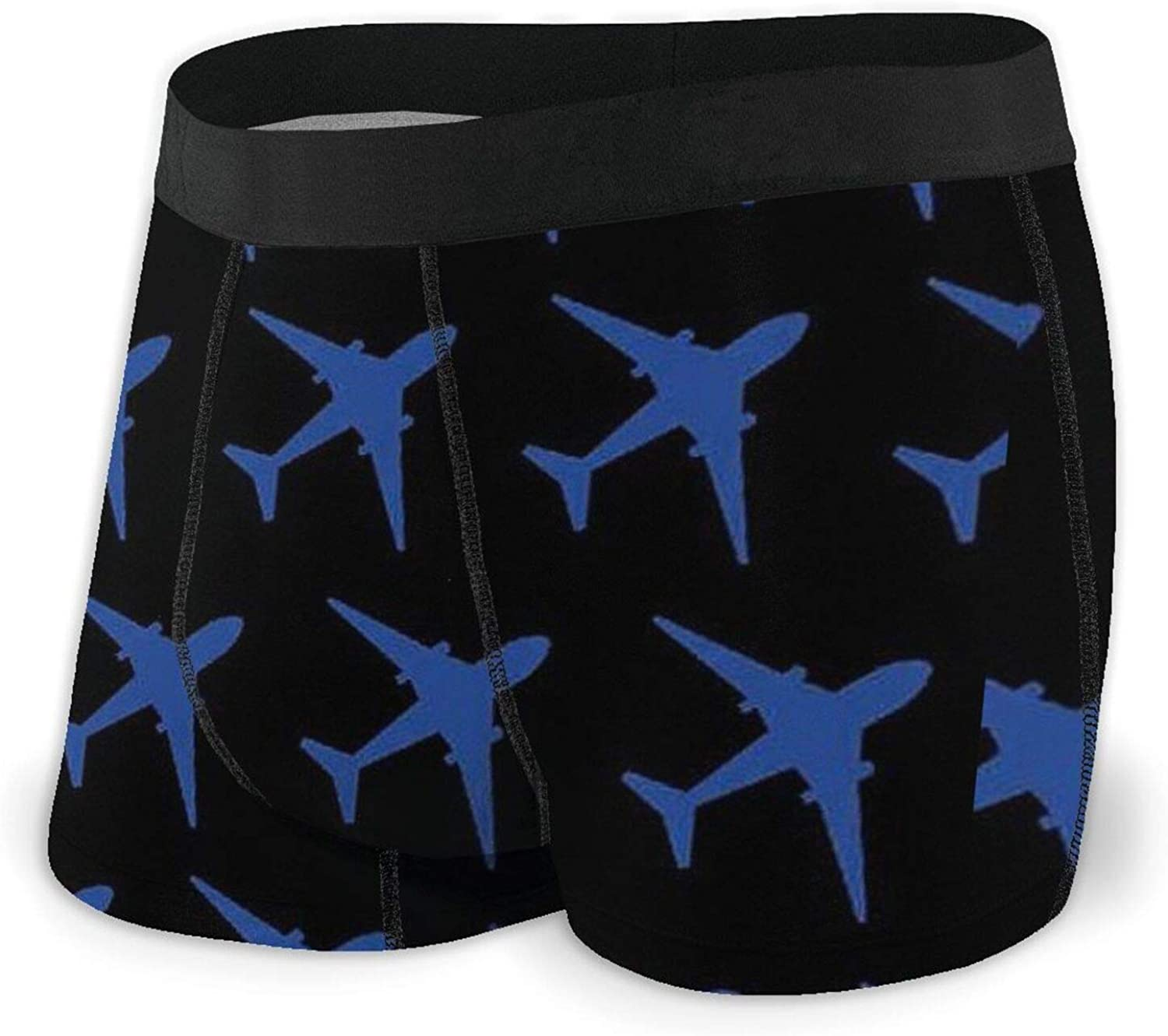 Man's Boxer Brief, Lighthouse and Airplane Soft Panty with Elastic Waistband Sport Performance Underwear