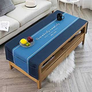 LMWB Bordsduk, bordsdukar, soffbordskudde vattentät och oljebeständig vardagsrum rektangulär enkel TV-skåp skydd duk – D 6...
