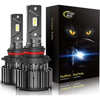CougarMotor LED Headlight Bulbs All-in-One Conversion Kit - 9005-10000 Lm 6000K Cool White CREE