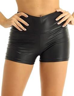 Da Donna Plain Hot Pants Pantaloncini Elastico Danza Palestra Club Wear Mini Shorts