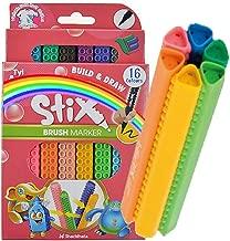 Tyi-Artline Brush Tip Marker Pens (16 Assorted Colors Set)