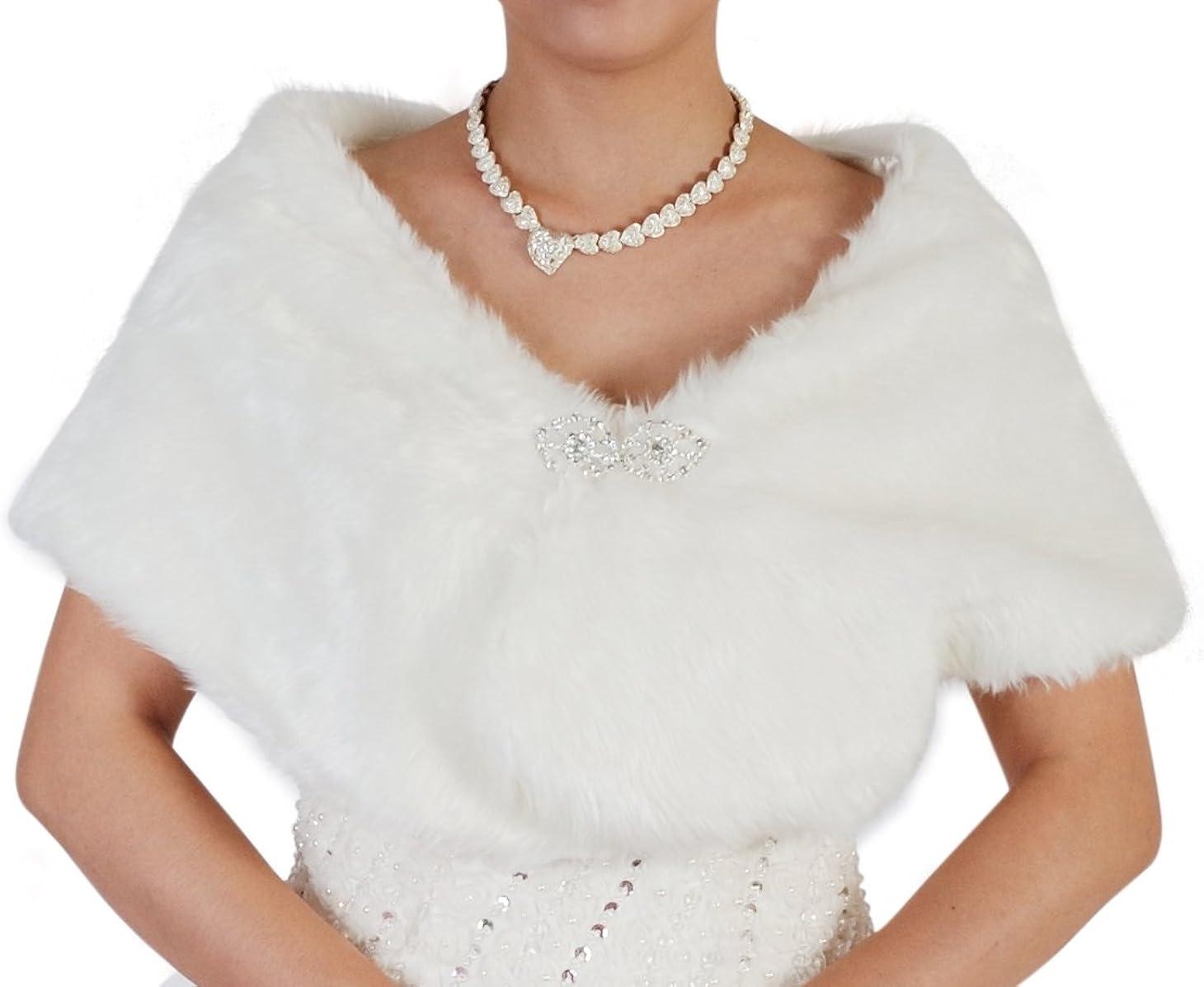 Cinda Cinda Ladies Faux Fur Bolero/Shrug
